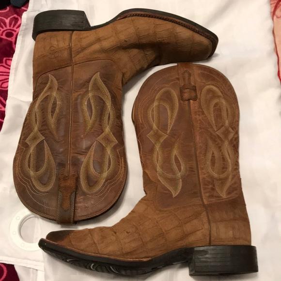 b4010fb50b0 Ariat Men's Cowboys boots tan with cobalt Quantum